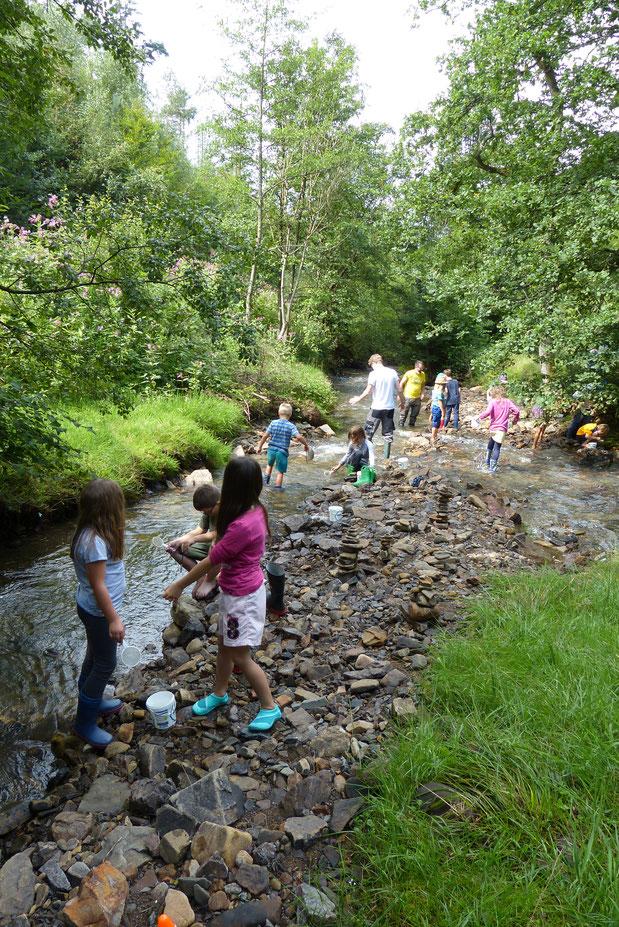 Die Kinder waren begeistert bei der Sache! (Foto: NABU Engelskirchen)