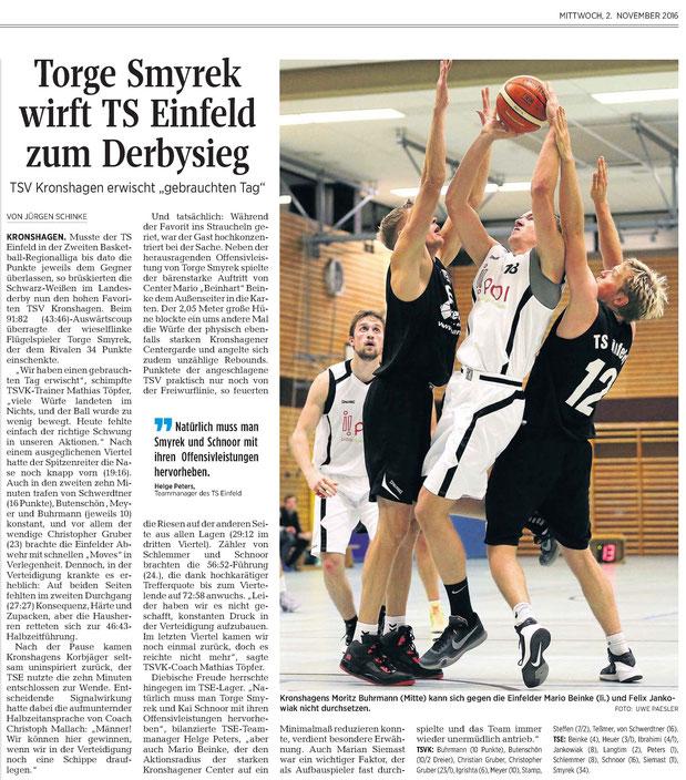 3. Spieltag 2016/2017 - Kieler Nachrichten