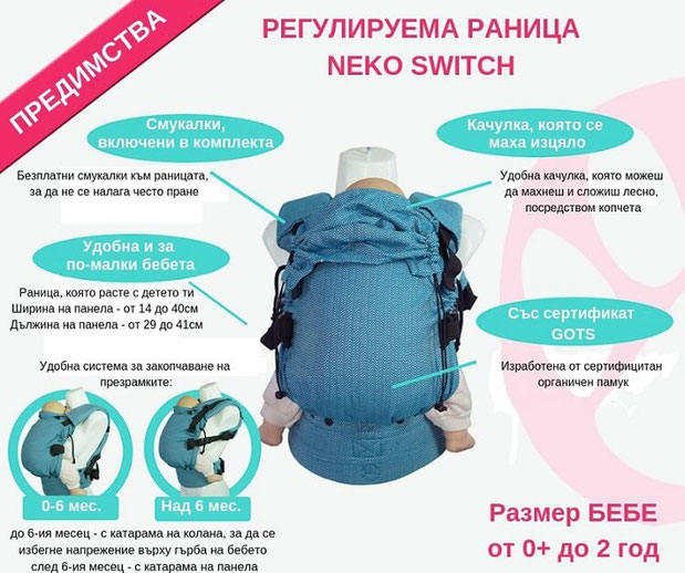 Предимства на ергономична раница Неко