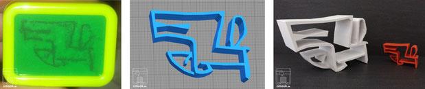 2D in 3D-Druck Beispiel chimaumau