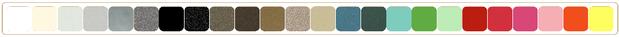 choisissez parmi 27 couleurs, nuancier des couleurs disponible en page Accueil.