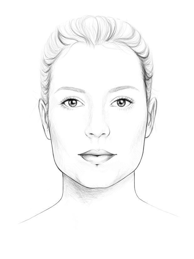 rechteckiges Gesicht