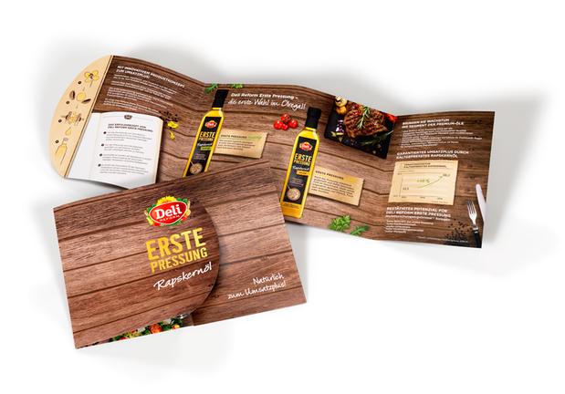 DELI - Erste Pressung - Rapskernoele - Tray zur neuen Verpackung - Retail Design - DesignKis 2015