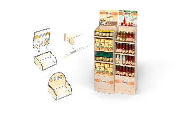 NATURATA - Displays für die neue Produktlinie - Saucen und Brühen - Retail Design - DesignKis - 2014