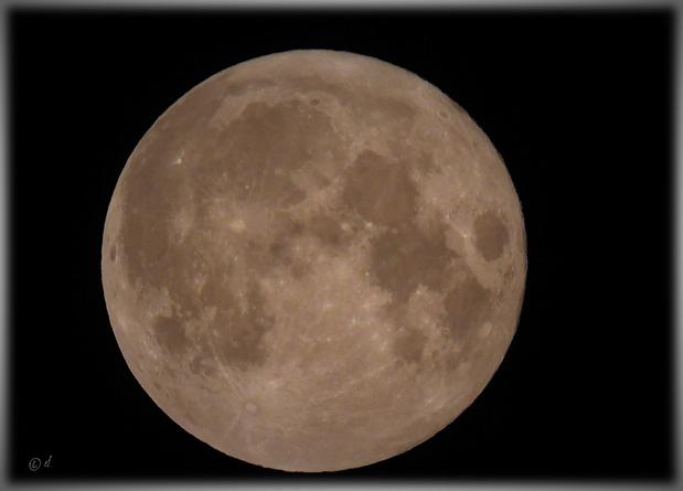 Die volle Mondkugel