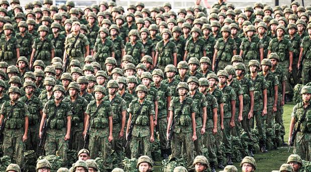Formacion del ejercito en guerra