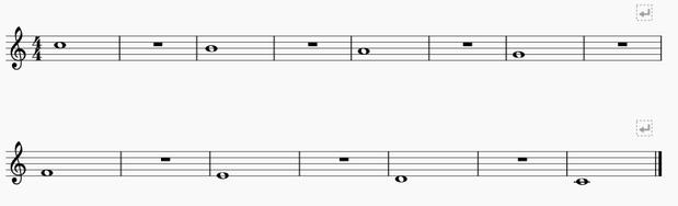 ロングトーン譜例