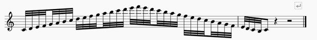 スケール32分音符