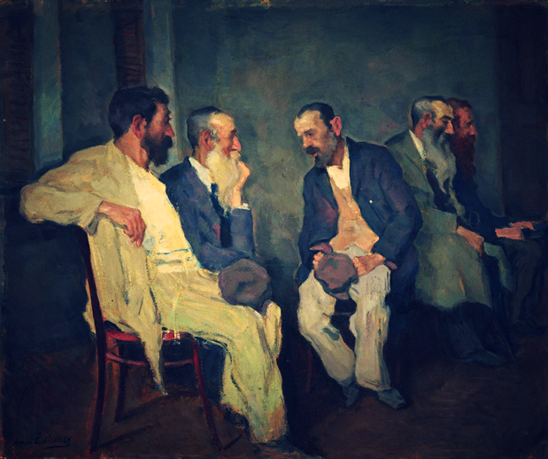 "Arnold Lakhovsky, ""The Conversation"" (1935)"
