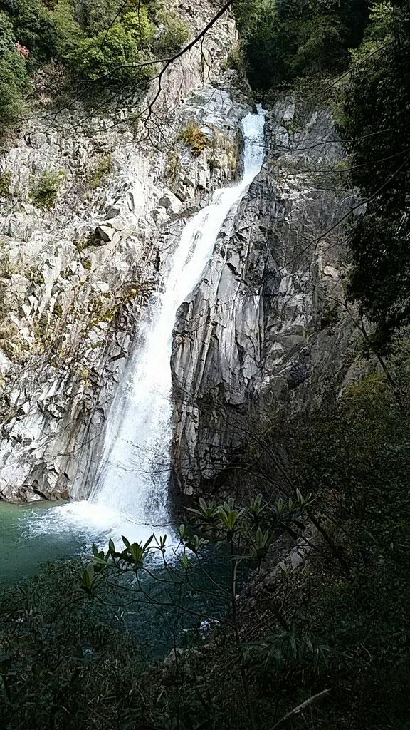 水量が多く素晴らしい布引の滝 4月