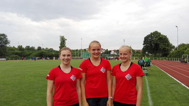 links nach rechts: Sophie Hellmuth, Annika Schepers, Viviana Böckheler