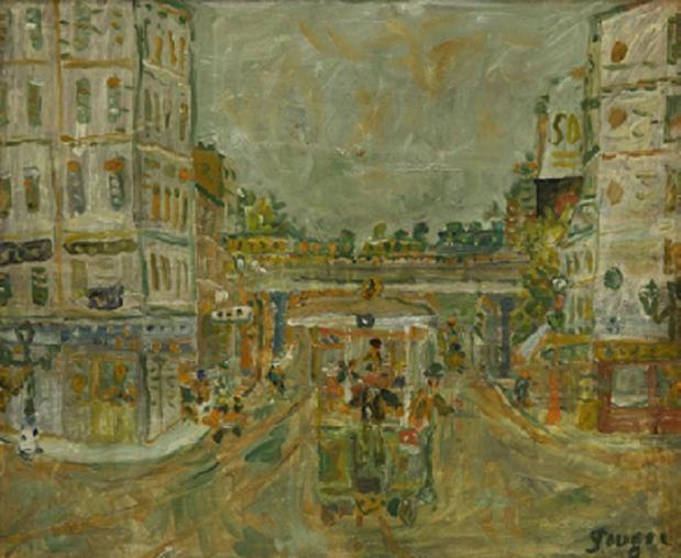 UNE TOILE MAJEURE DE IVAN PUGNI dit JEAN POUGNY  (1892+1956). Peintre franco-russe.