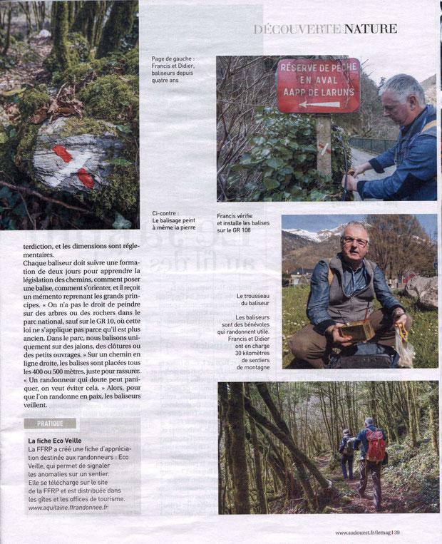 Article tiré de Sud-Ouest Magazine du 17 mai 2014.