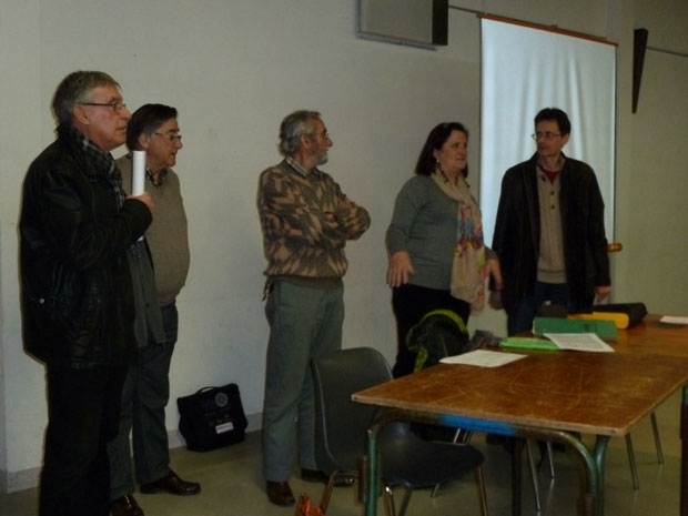 La réunion est ouverte par Chantal de Faveri