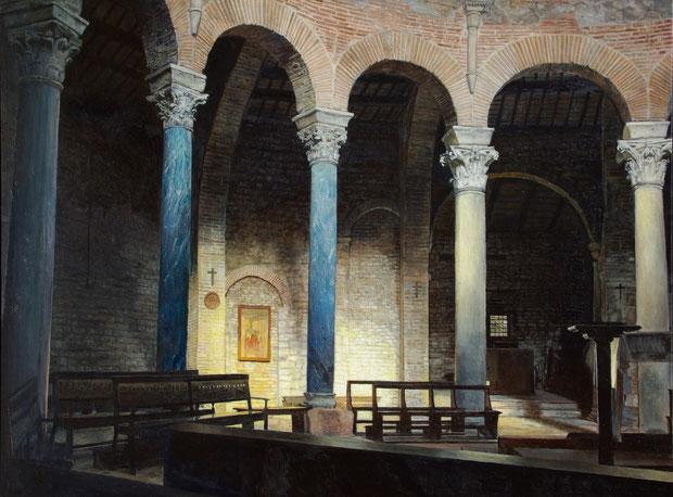 ペルージャのサン・ミケーレ・アルカンジェロ聖堂 油彩・板 45x60cm