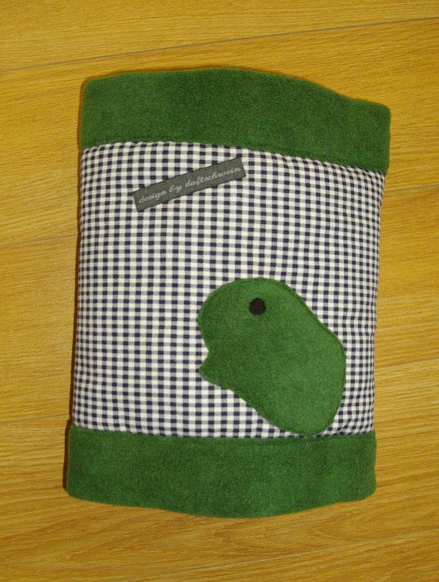 Karo blau/weiß, Fleece grün (Zuhause gefunden)