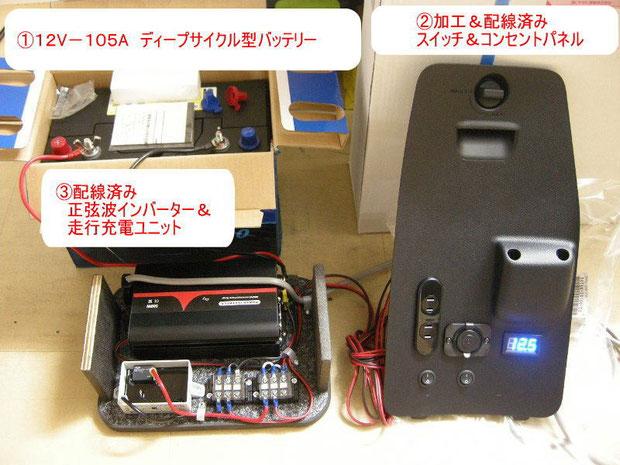VOXYヴォクシー、NOAHノア、ESQUIREエスクァイア用の100Vコンセントシステムです。