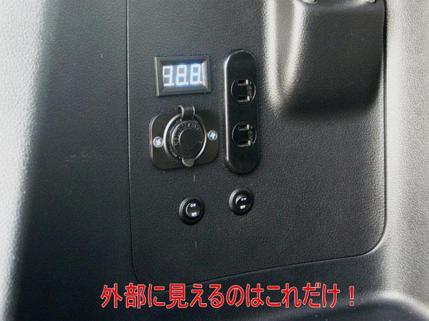 ▲写真は初期型、現在は電圧計が丸型です。