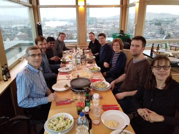 GV mit anschliessendem Raclette im Turmstübli über den Dächern von Basel