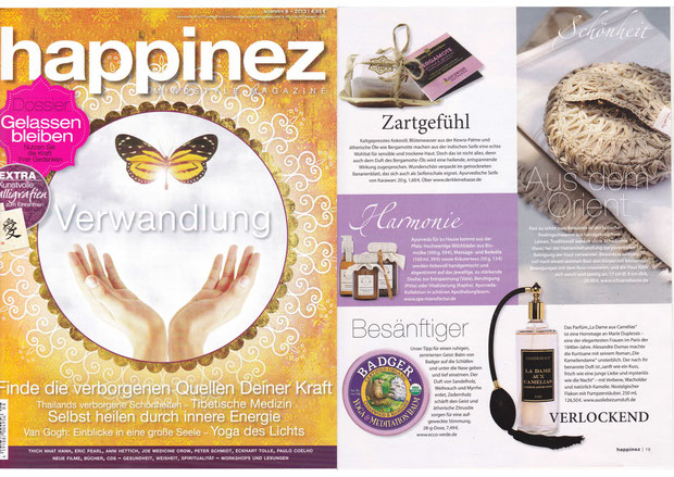 HAPPINEZ NOV2013***AYURVEDIC COLLECTION