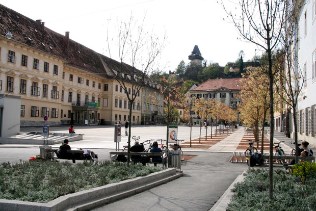 Karmeliterplatz in Graz, 2015