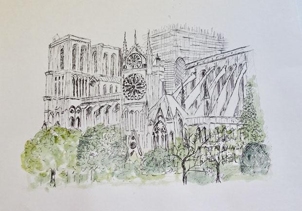 Notre Dame nach dem Brand 2019
