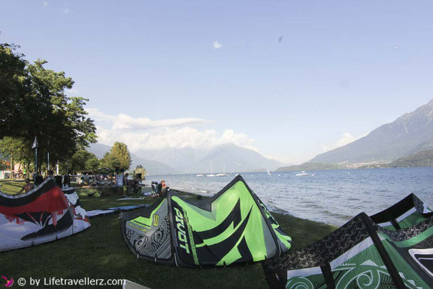 Kitespot in Dongo am Lago di Como