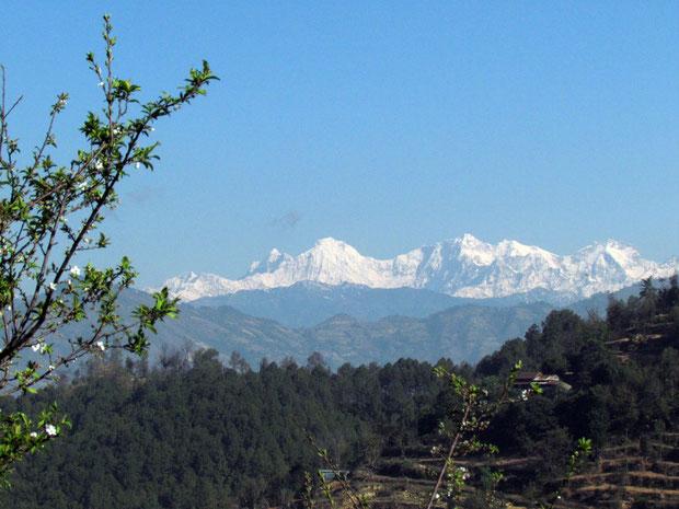 Himalaya im ersten Morgenlicht