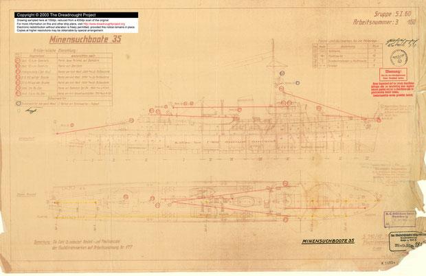 Plan d'un classe M35 Credit plan : http://dreadnoughtproject.org