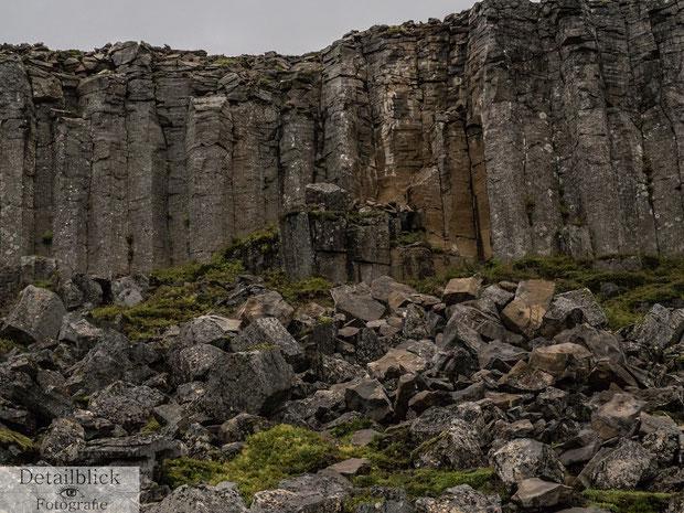 Basaltsäulen auf der Snaefellsnes Halbinsel