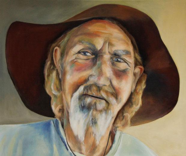 Oatman Artist, Eitempera auf Leinwand, 120x100