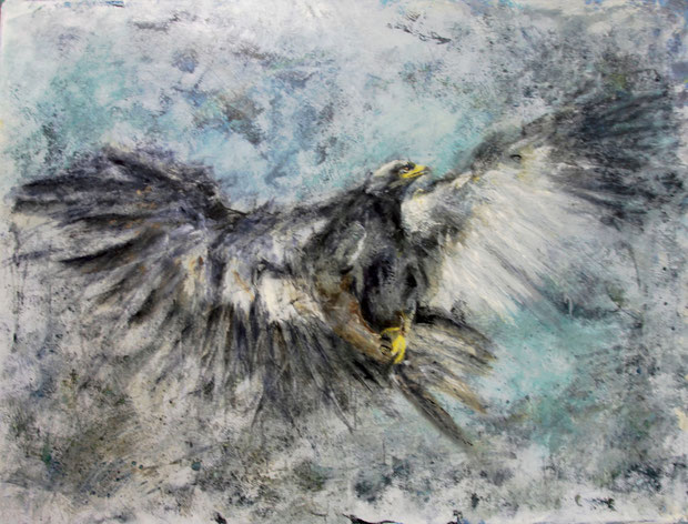 Eagle Mischtechnik auf Leinwand 120x160