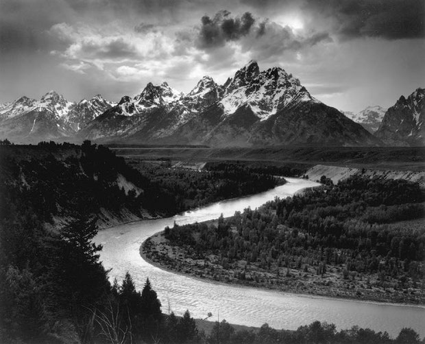 Adam Ansel  - Tetons and the Snake River, 1942, Silver Gelatin Print