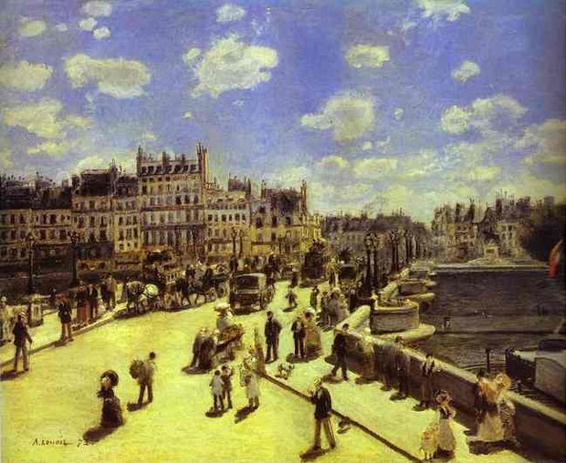 Pierre Auguste Renoir - Pont Neuf, Paris, 1872. Oil on canvas