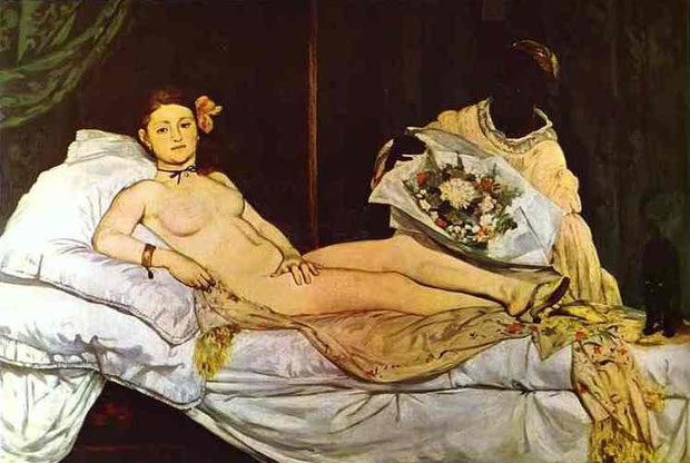 Edouard Manet - Olympia, 1863. Oil on canvas