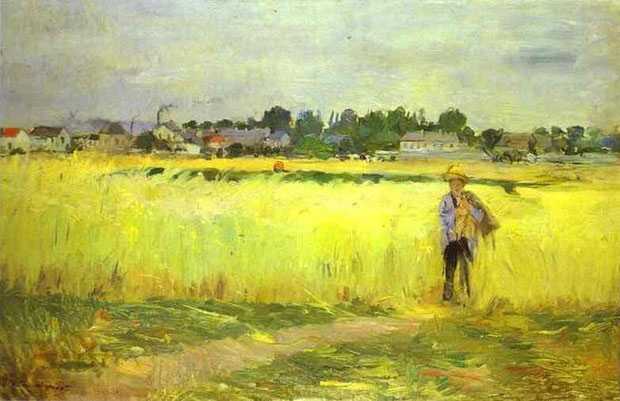 Berthe Morisot - In the Wheatfields at Gennevilliers, 1875, Oil on canvas