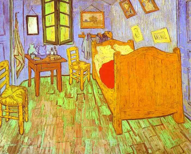 Vincent van Gogh - Bedroom in Arles, 1889. Oil on canvas.