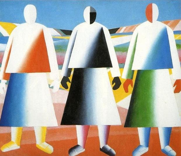 Kazimir Malevich - Ragazze nei campi, 1928
