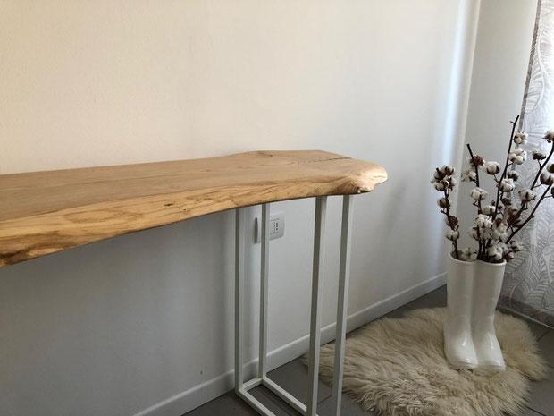 scrivania su misura,scrivania ferro e legno,scrivania noce