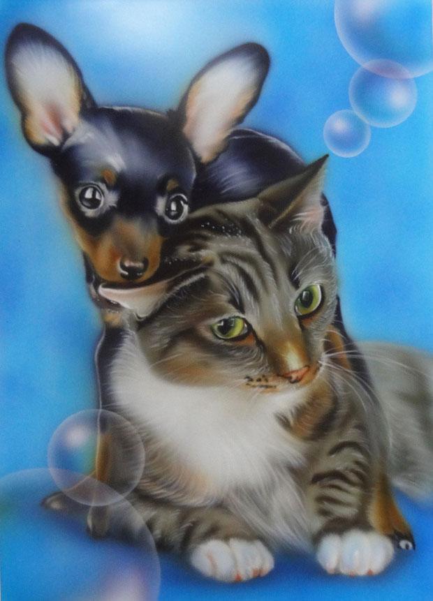 エアブラシ,犬,猫