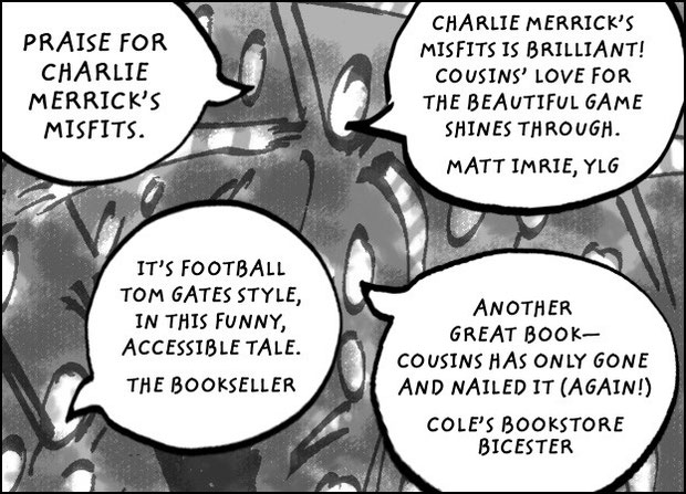 Dave Cousins Charlie Merricks Misfits in fouls friends and football review quotes