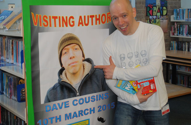 Dave Cousins visiting author. Photo by Lisa Shaw.