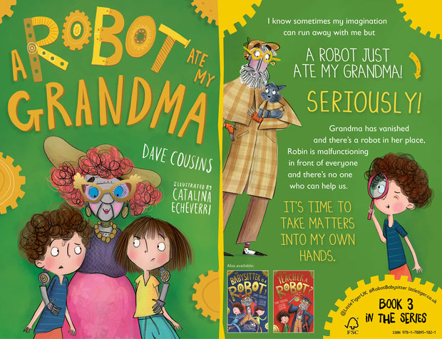 Front and back cover for A ROBOT ATE MY GRANDMA by Dave Cousins