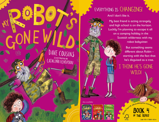 Jacket wrap for My Robot's Gone Wild by Dave Cousins
