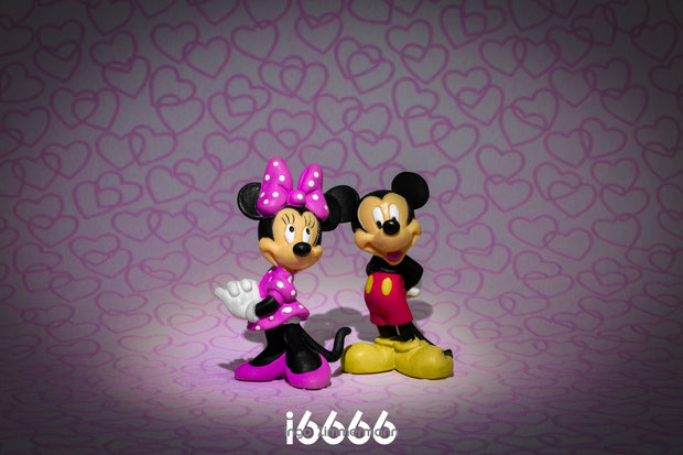 Mickey und Mini Mouse : purple-pink-love