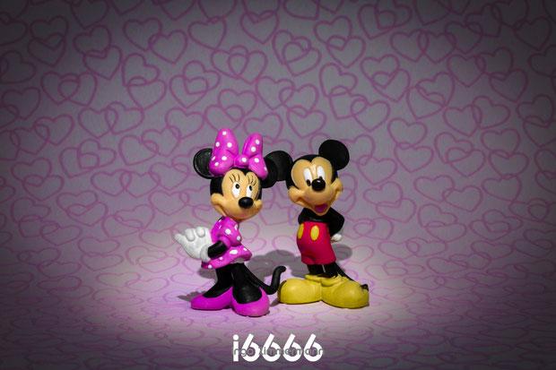 Mickey und Mini Mouse : purple-pink-love