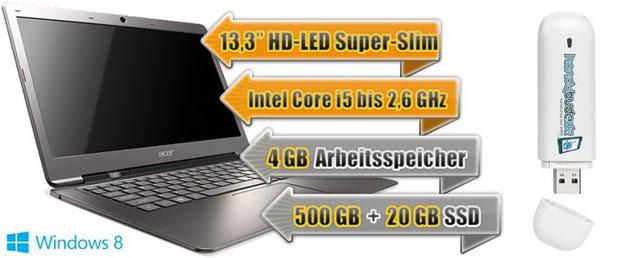 Internet Flat mit kostenlosem Ultrabook + Surf-Stick