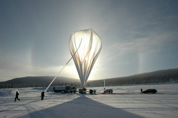 Launch of a BEXUS balloon from the Esrange Space Center.