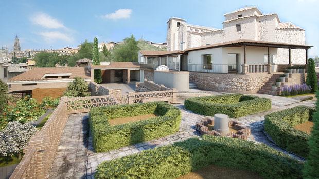 Infografías 3D para patrimonio. Proyecto de Cigarral en Toledo. Reconstrucción 3D