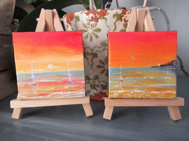 mini-tableau-mini-peinture-ocean-coucher-de-soleil-tableau-paysage-ocean-royan-audrey-chal